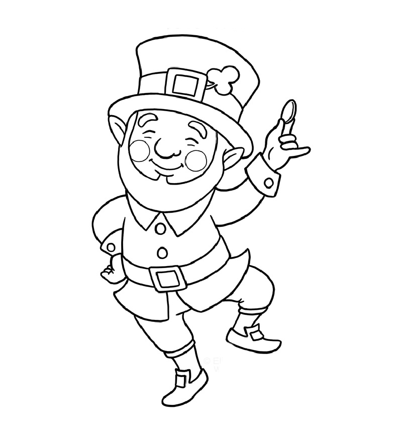 leprechaun coloring pages 1
