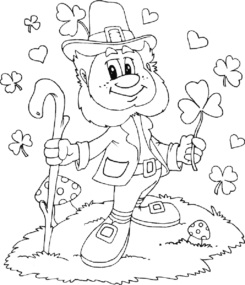 leprechaun coloring pages 3