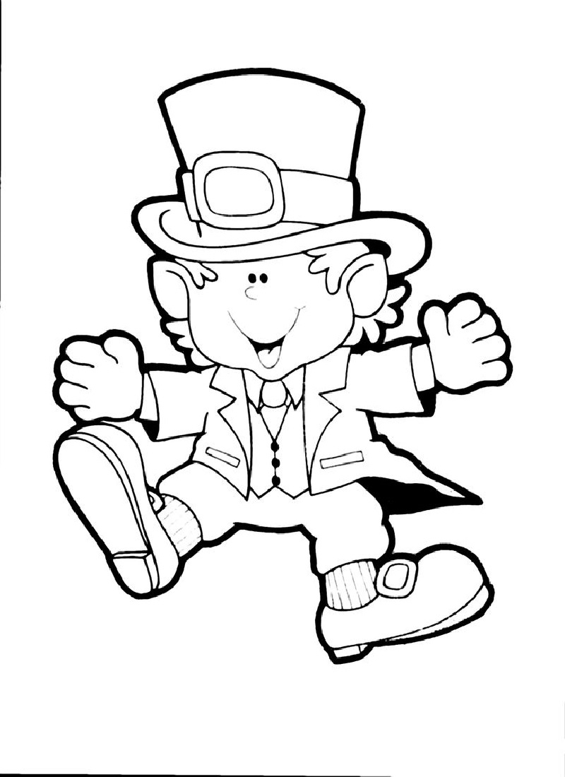 leprechaun coloring pages 5