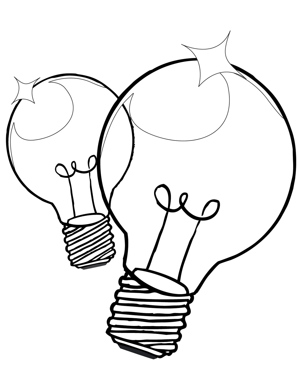 light bulb coloring page 1
