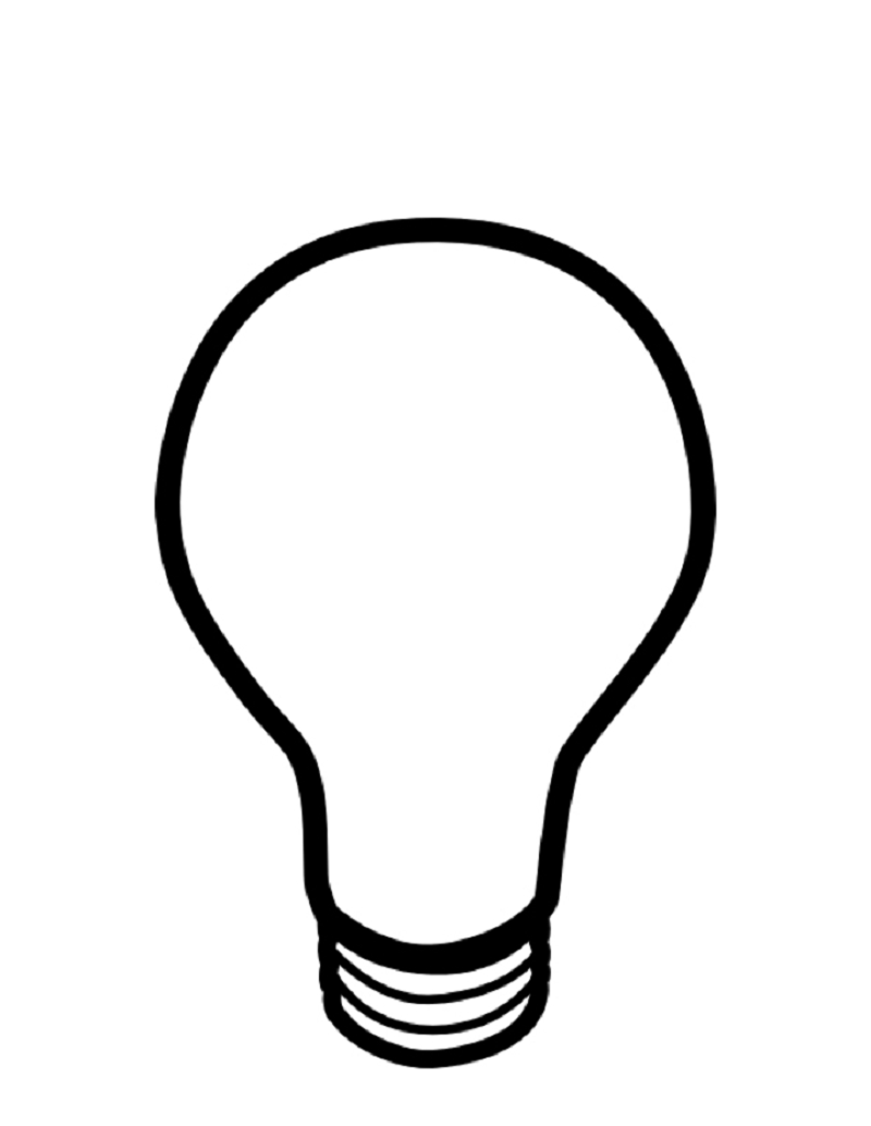 light bulb coloring page 2