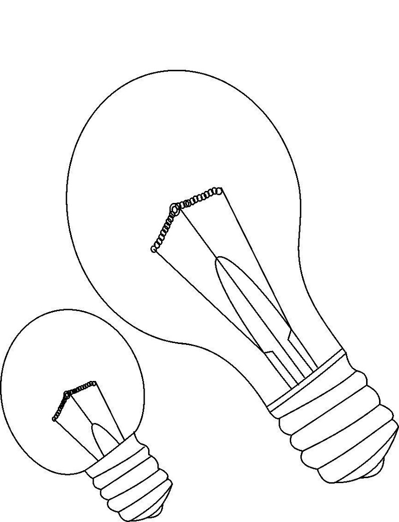 light bulb coloring page 3