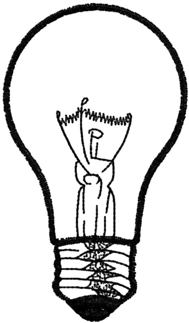 light bulb coloring page 4