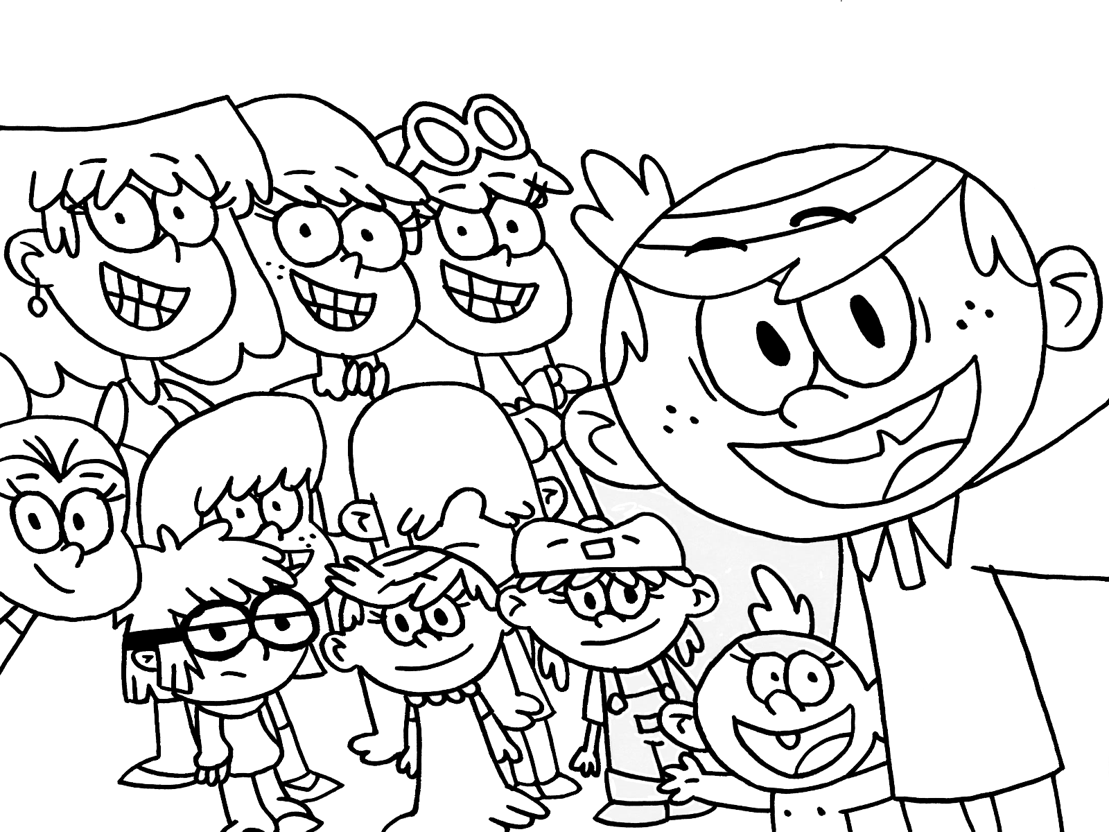 loud house coloring pages selfie