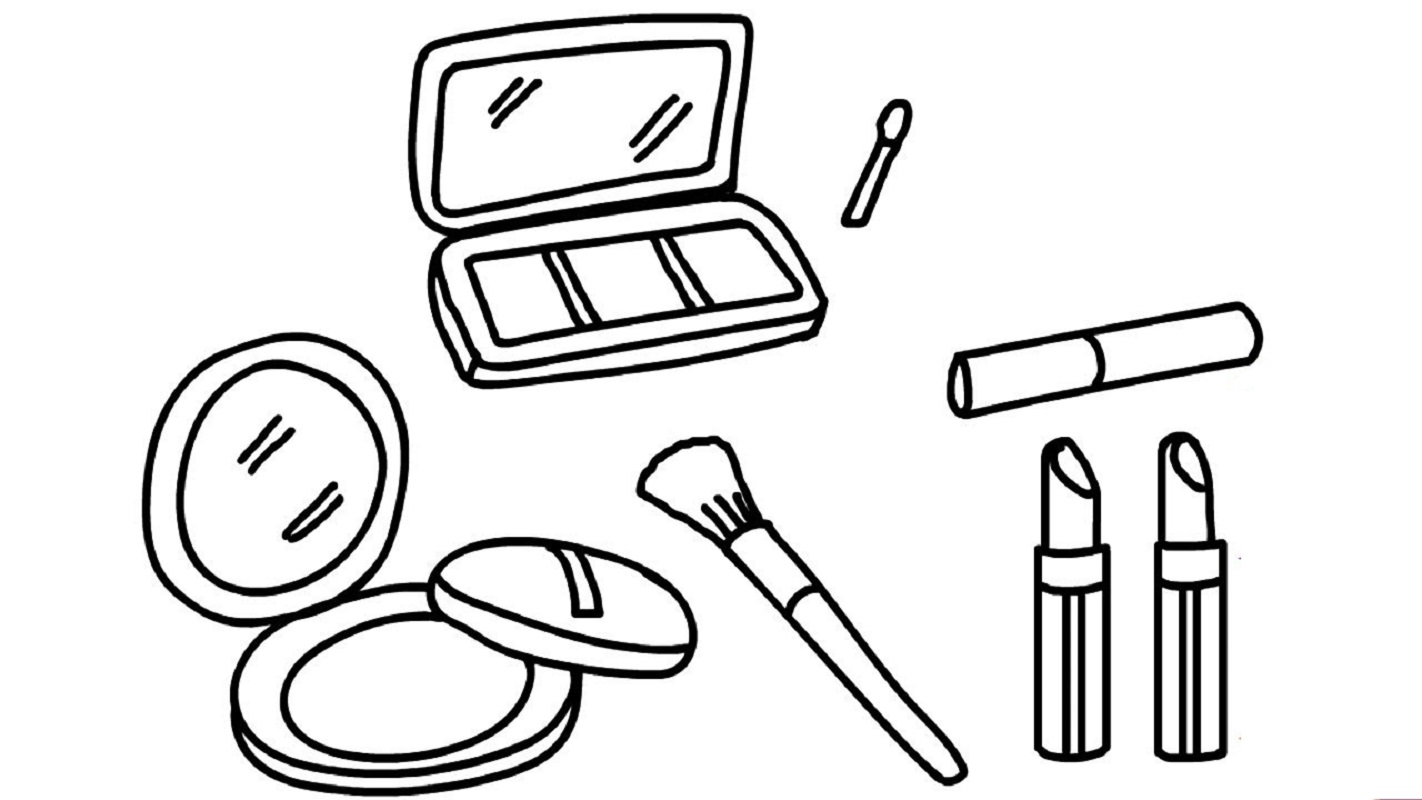 makeup coloring pages makeup 3