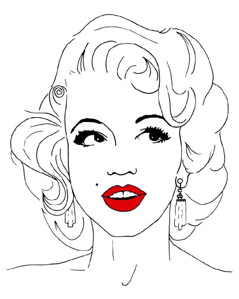 marilyn monroe coloring pages beautiful