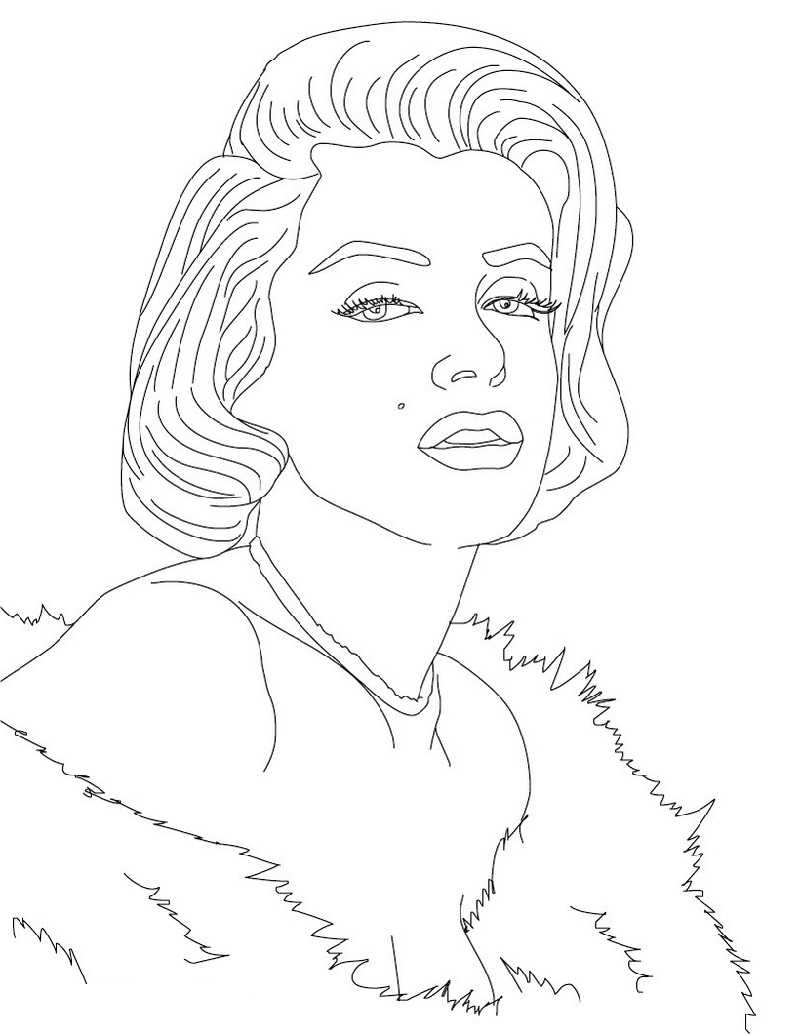 marilyn monroe coloring pages cute