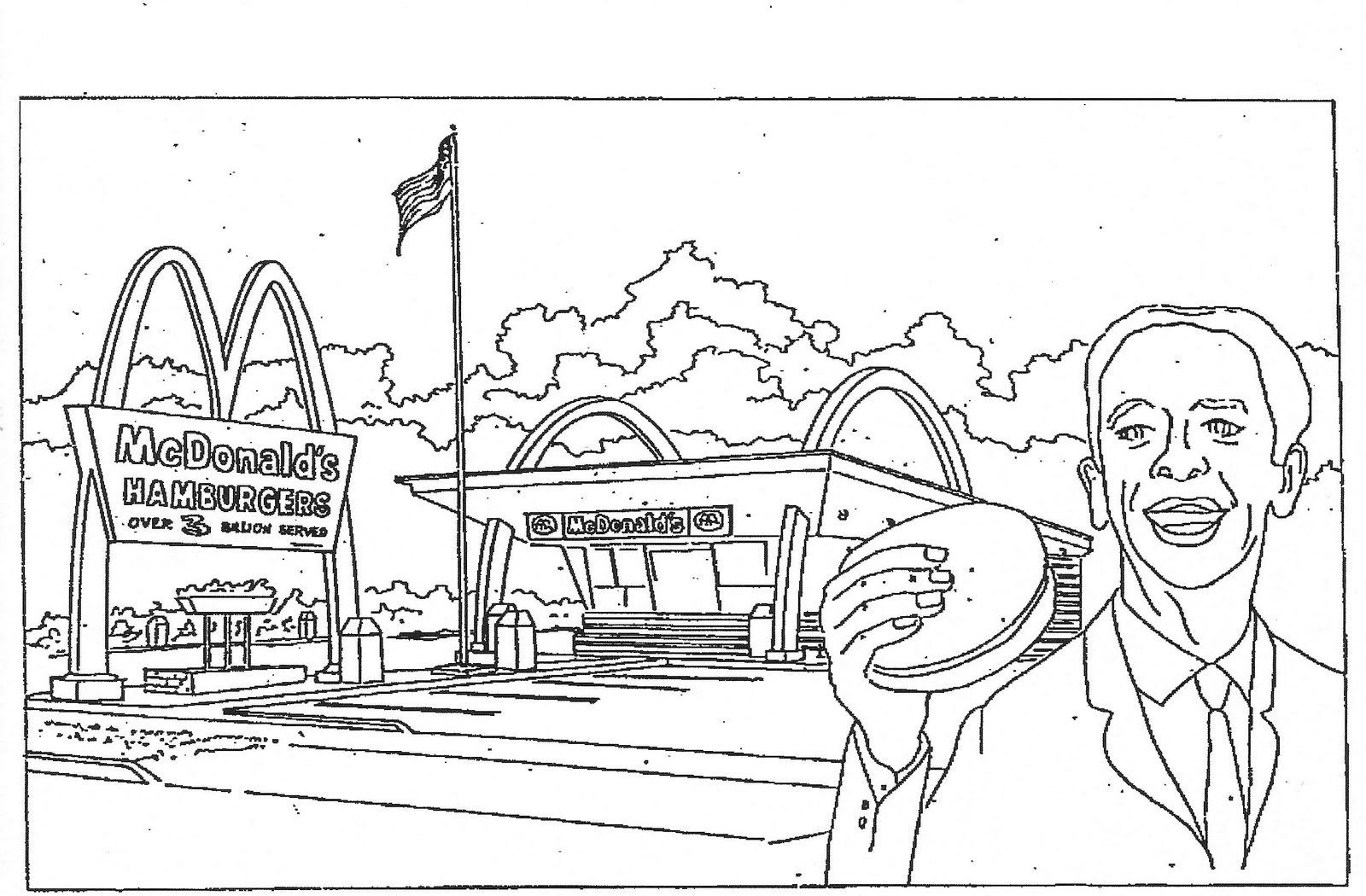 mcdonalds coloring pages 1