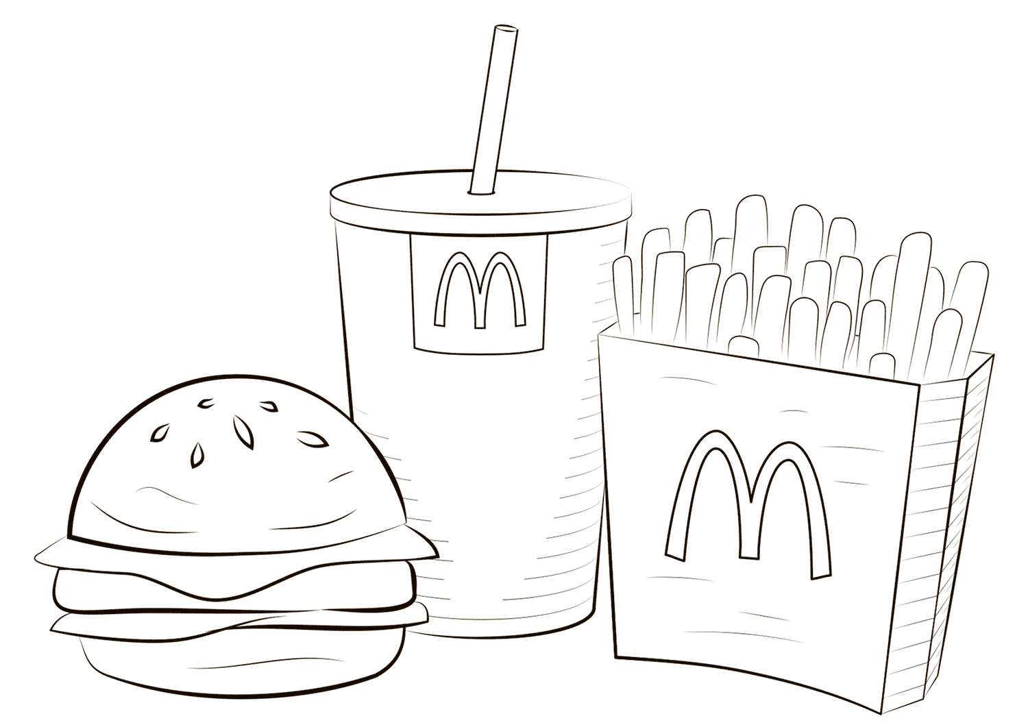 mcdonalds coloring pages 2