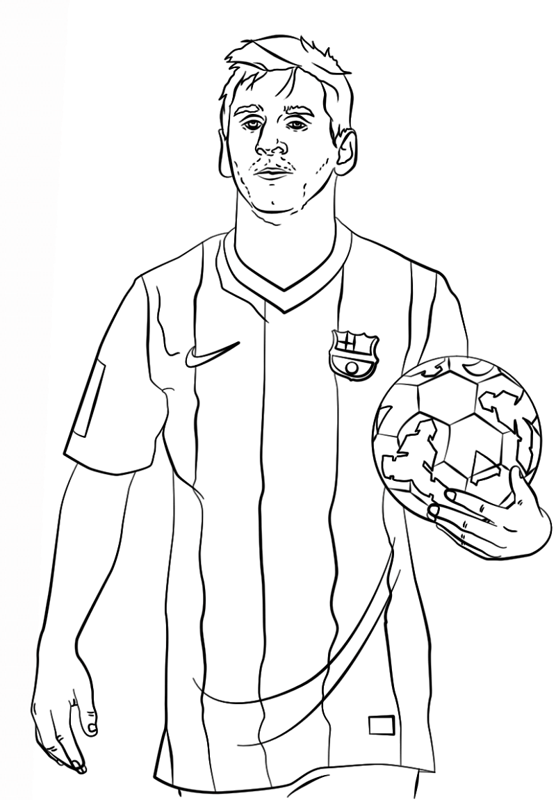 messi coloring pages 2
