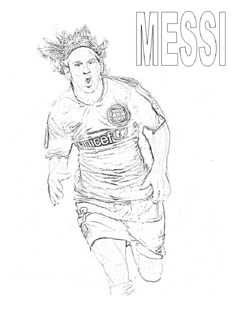 messi coloring pages 3