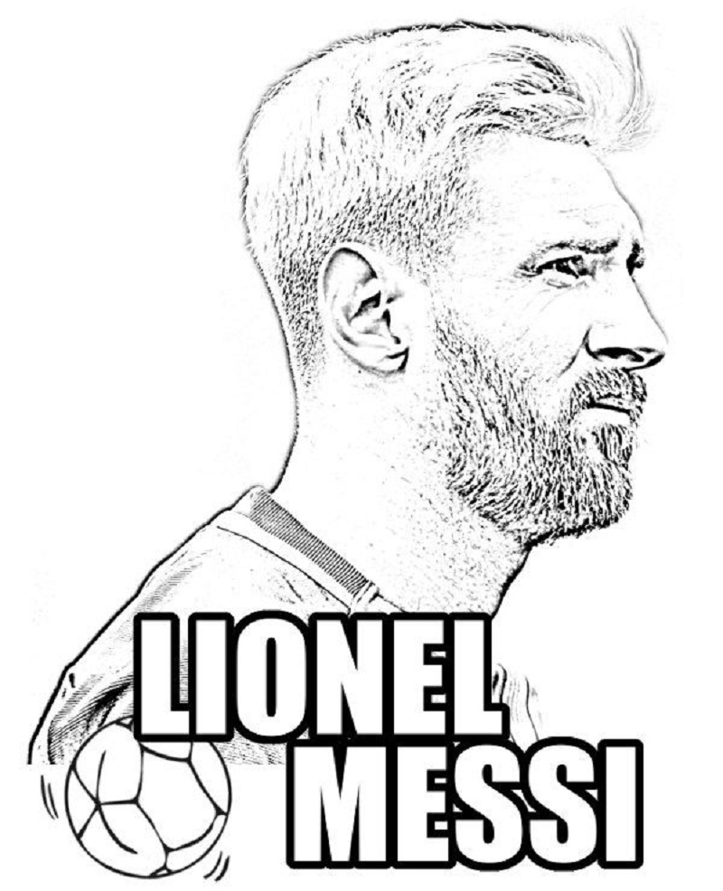 messi coloring pages 4