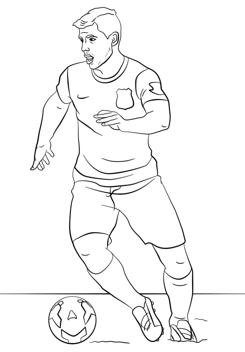 messi coloring pages 5