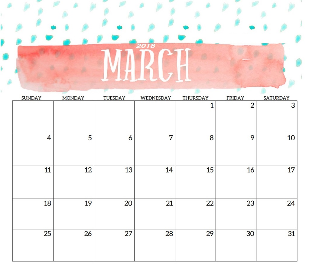monthly calendar printable 4
