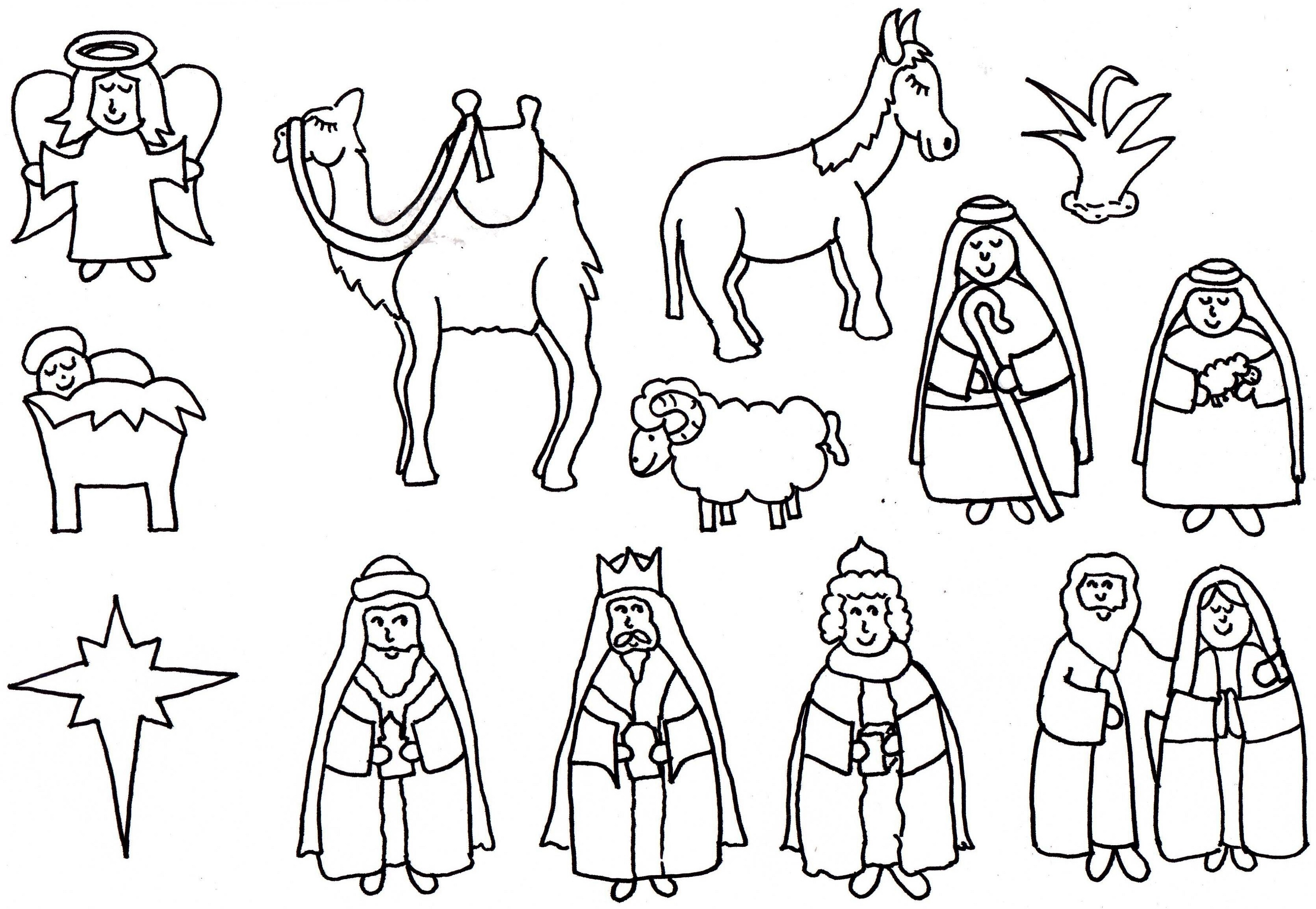 nativity coloring pages 3
