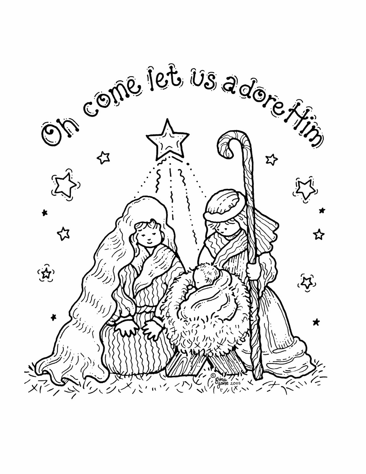 nativity coloring pages 4