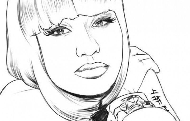 Nicki Minaj Coloring Pages For Free
