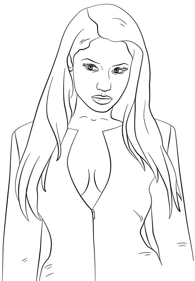 nicki minaj coloring pages 3