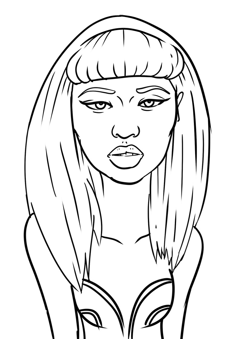 nicki minaj coloring pages 4