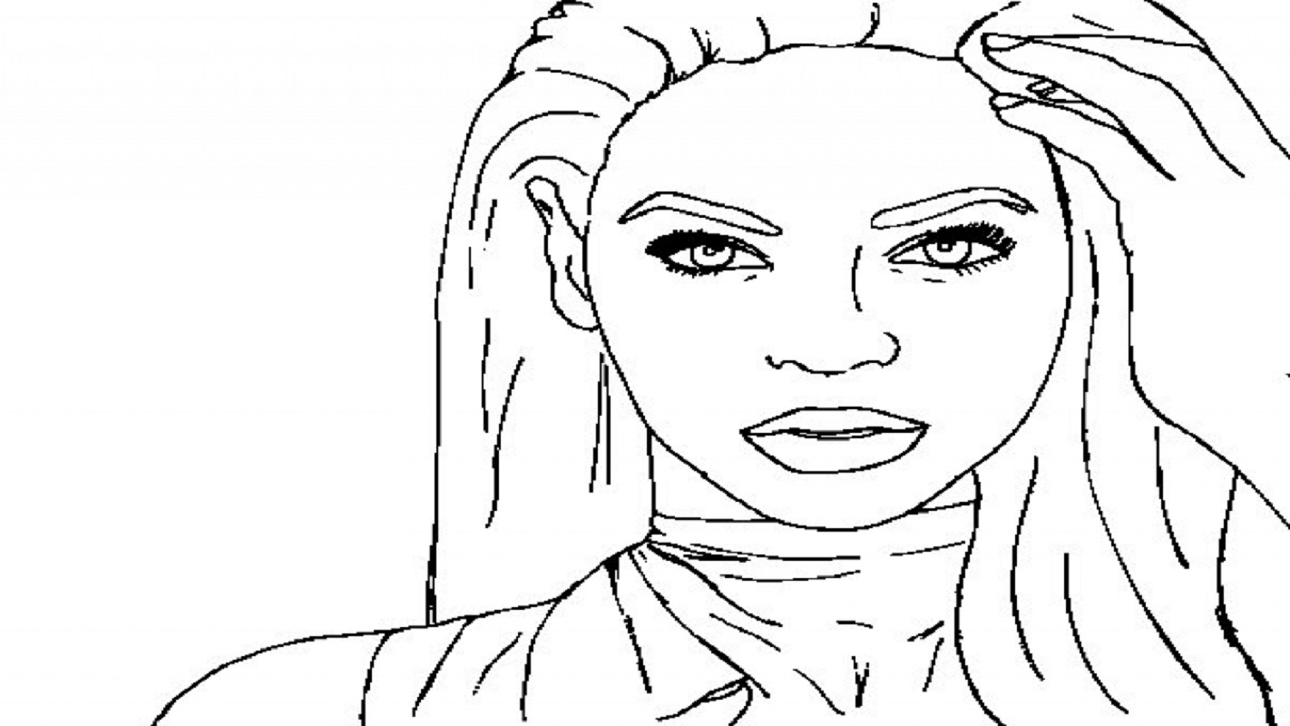 nicki minaj coloring pages 5