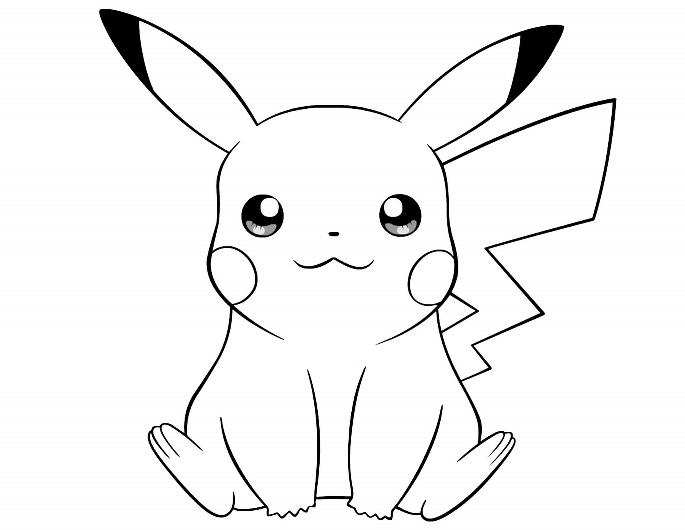 pikachu coloring pages 1