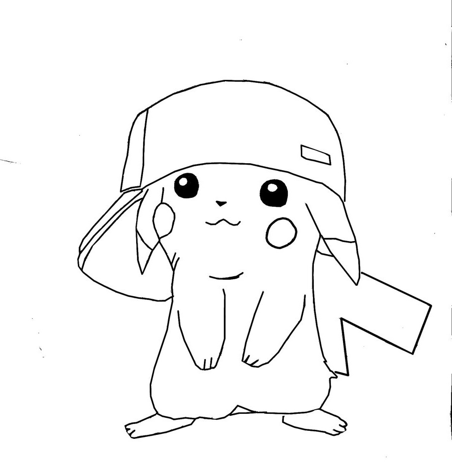 pikachu coloring pages 3