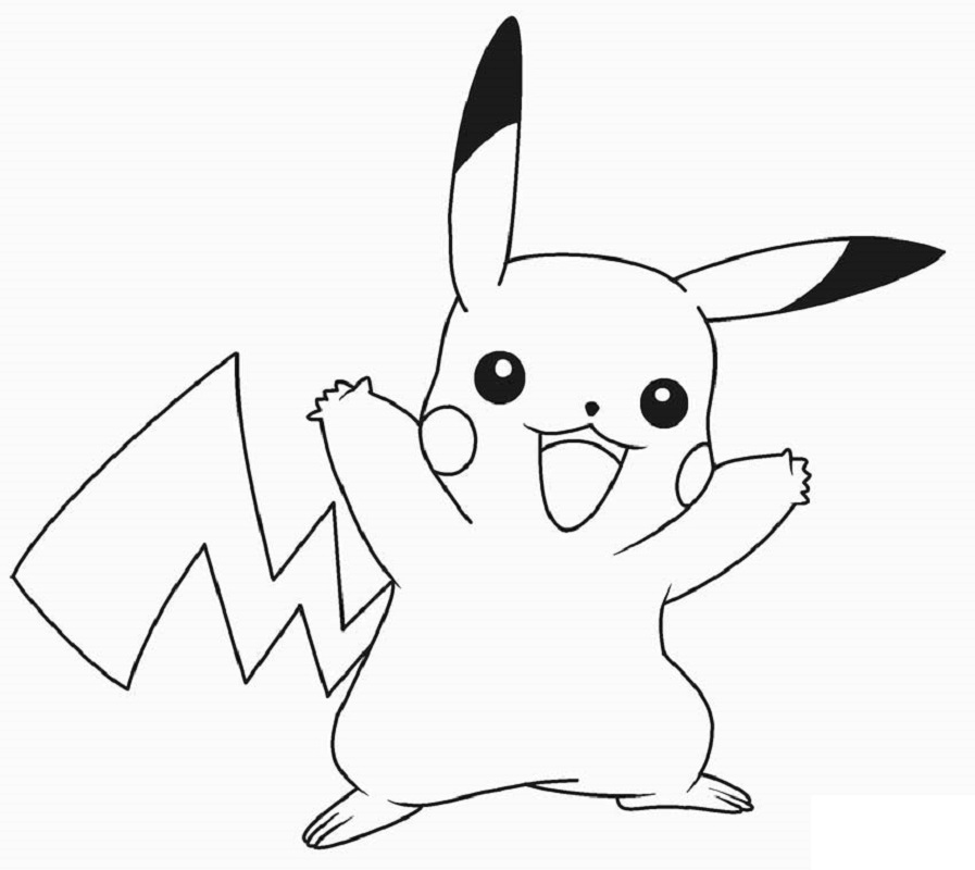 pikachu coloring pages 5