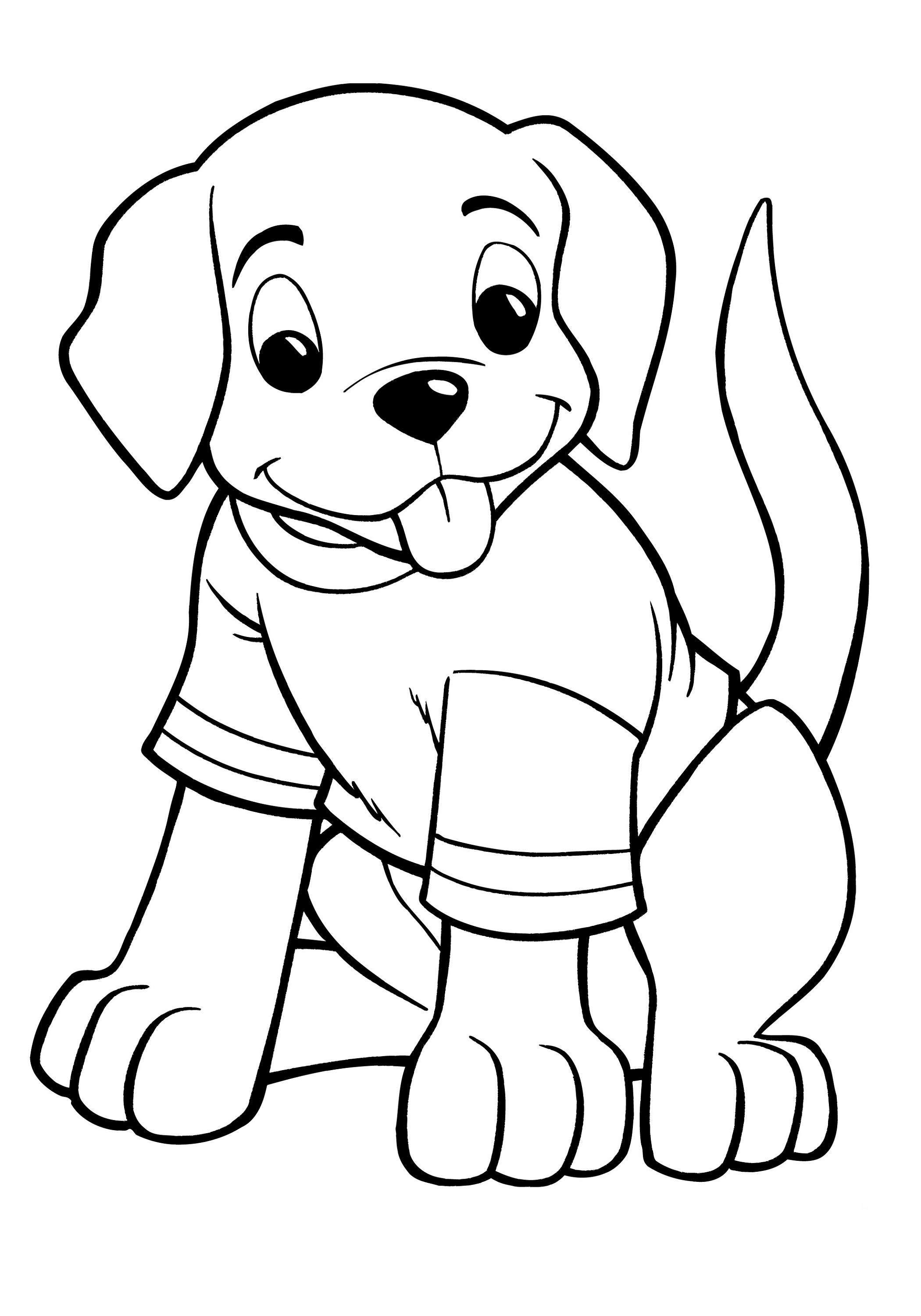 puppy coloring pages 1