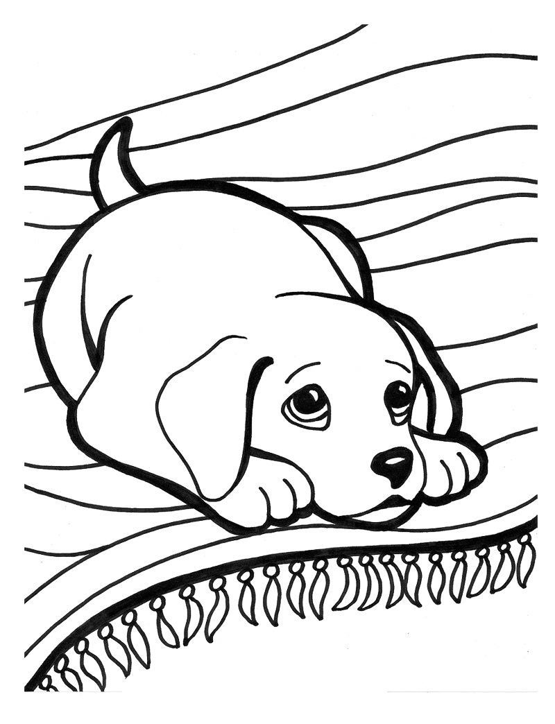 puppy coloring pages 5