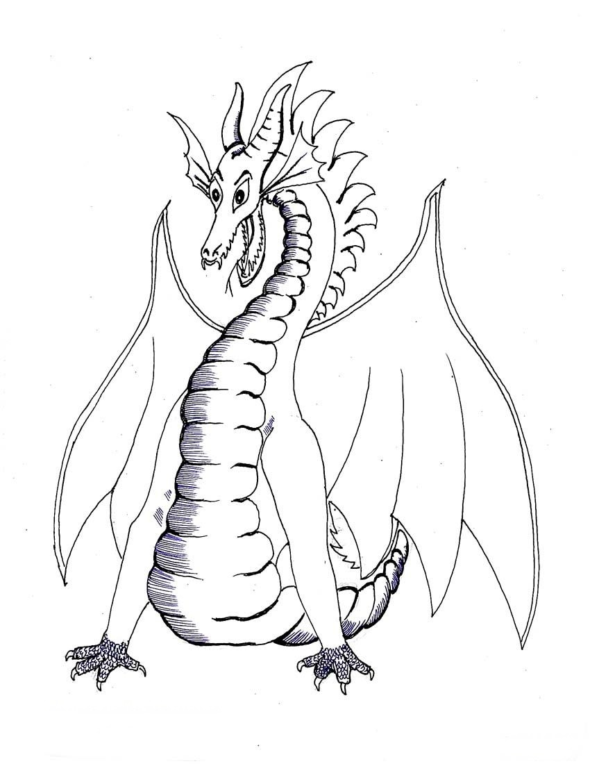realistic dragon coloring pages 1