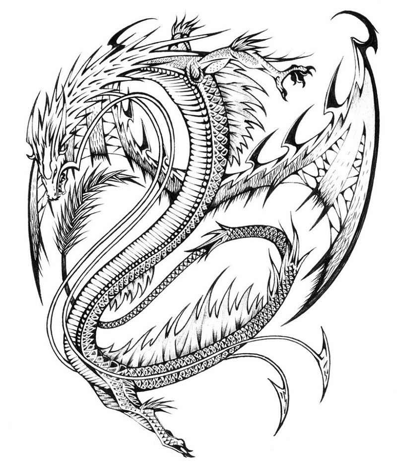 realistic dragon coloring pages 2