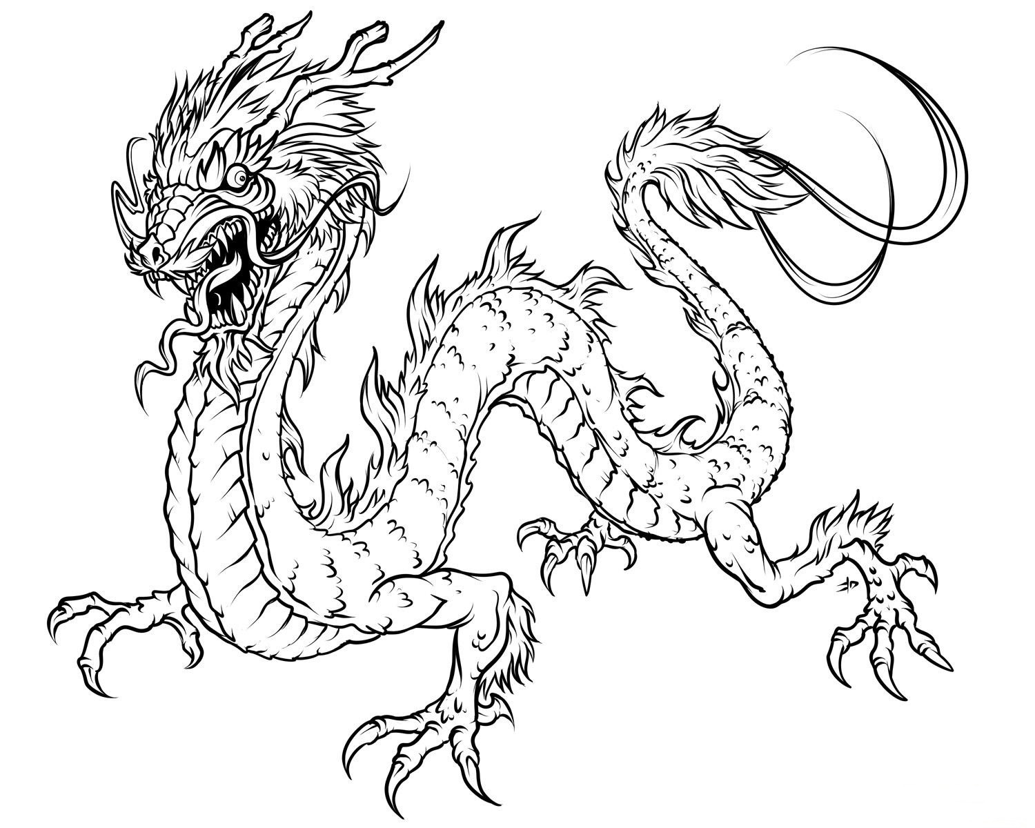 realistic dragon coloring pages 5