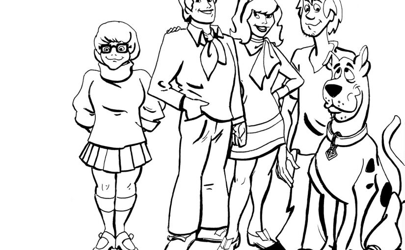 scooby doo coloring pages 1