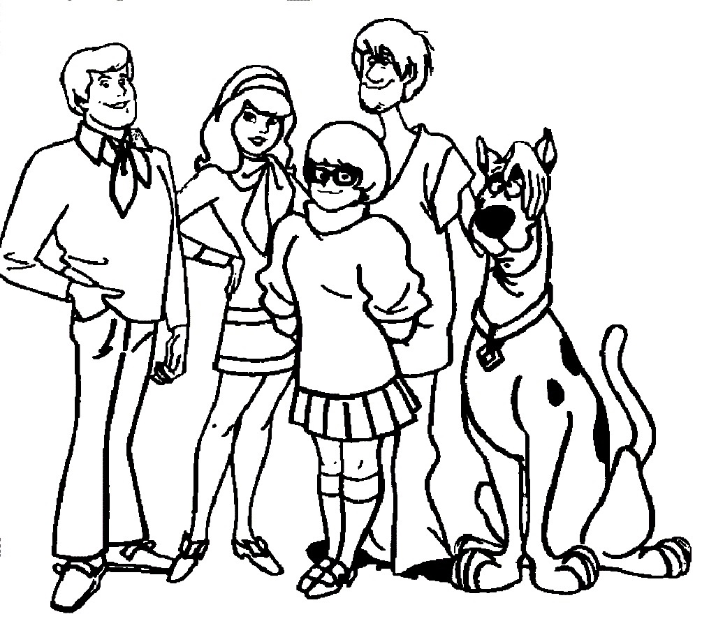 scooby doo coloring pages 2