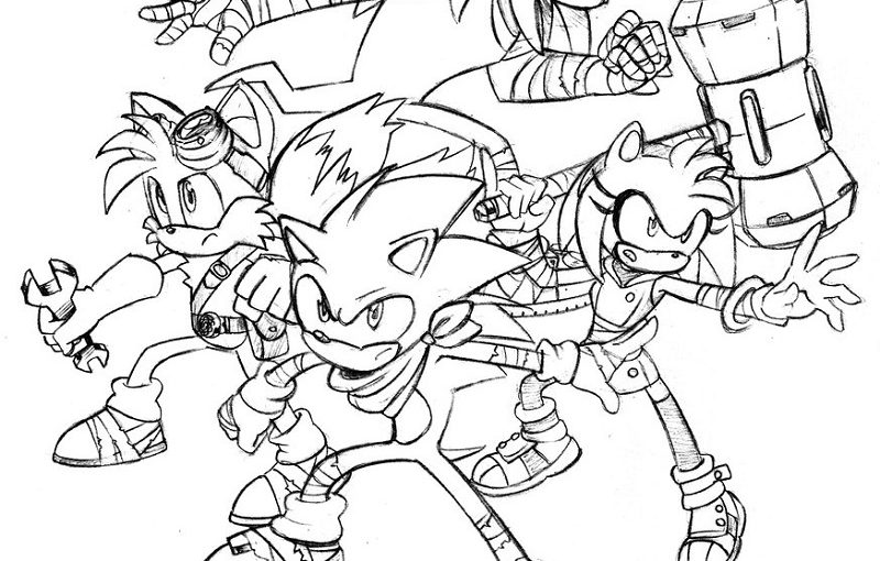 sonic boom coloring pages 1
