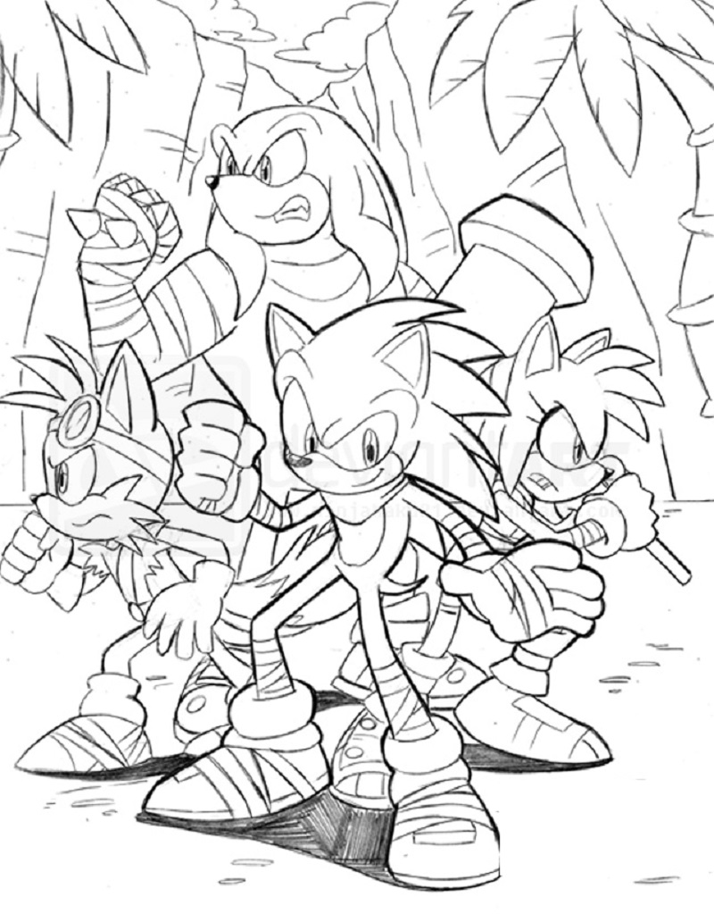 sonic boom coloring pages 2