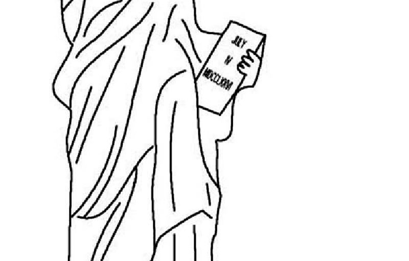 Memorable Statue of Liberty Coloring Page