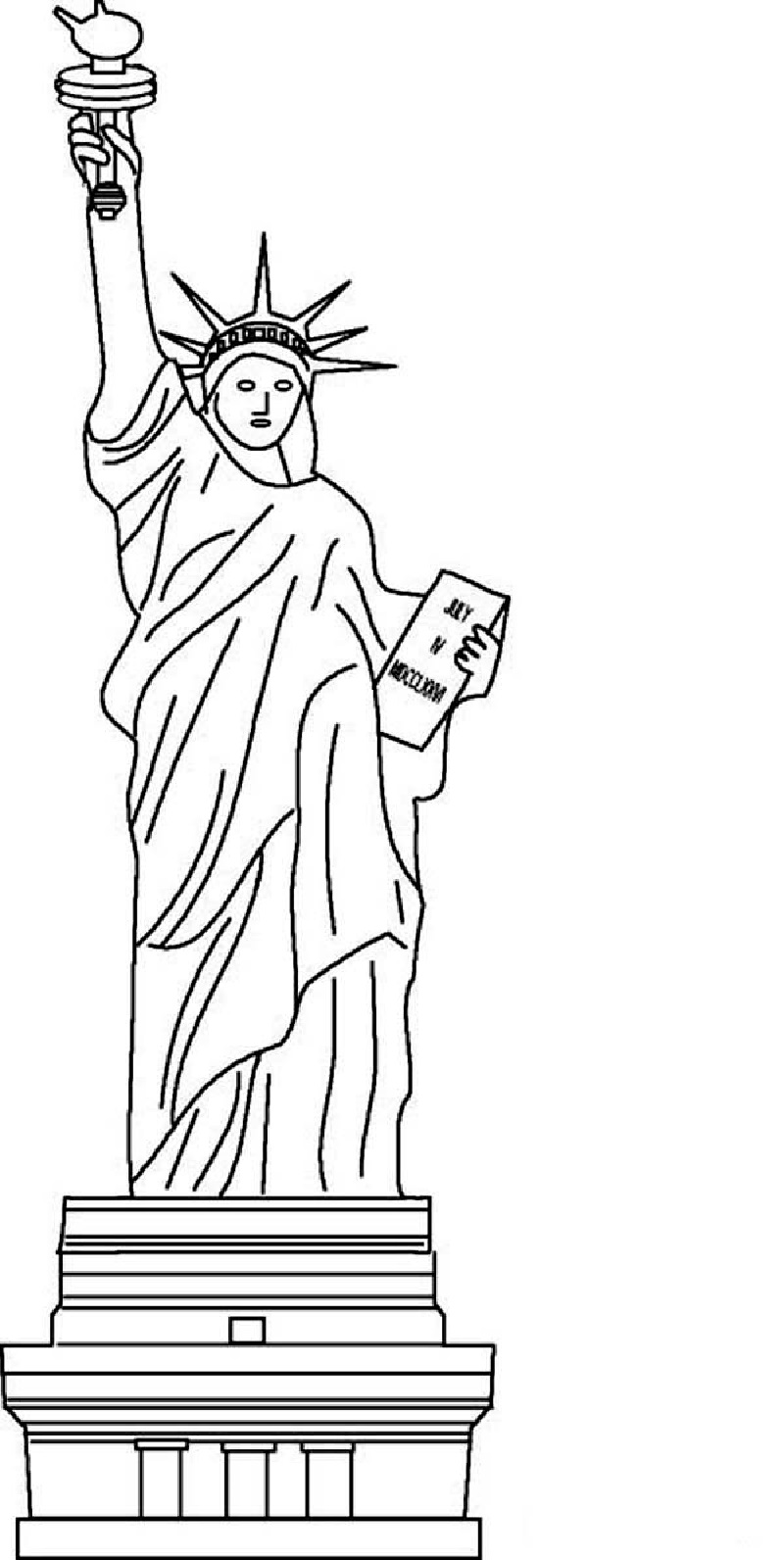 statue of liberty coloring page 2
