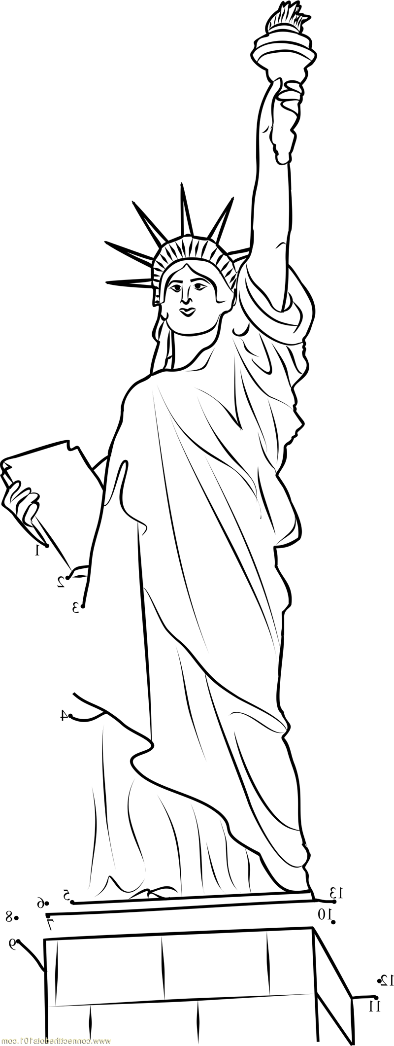 statue of liberty coloring page 5