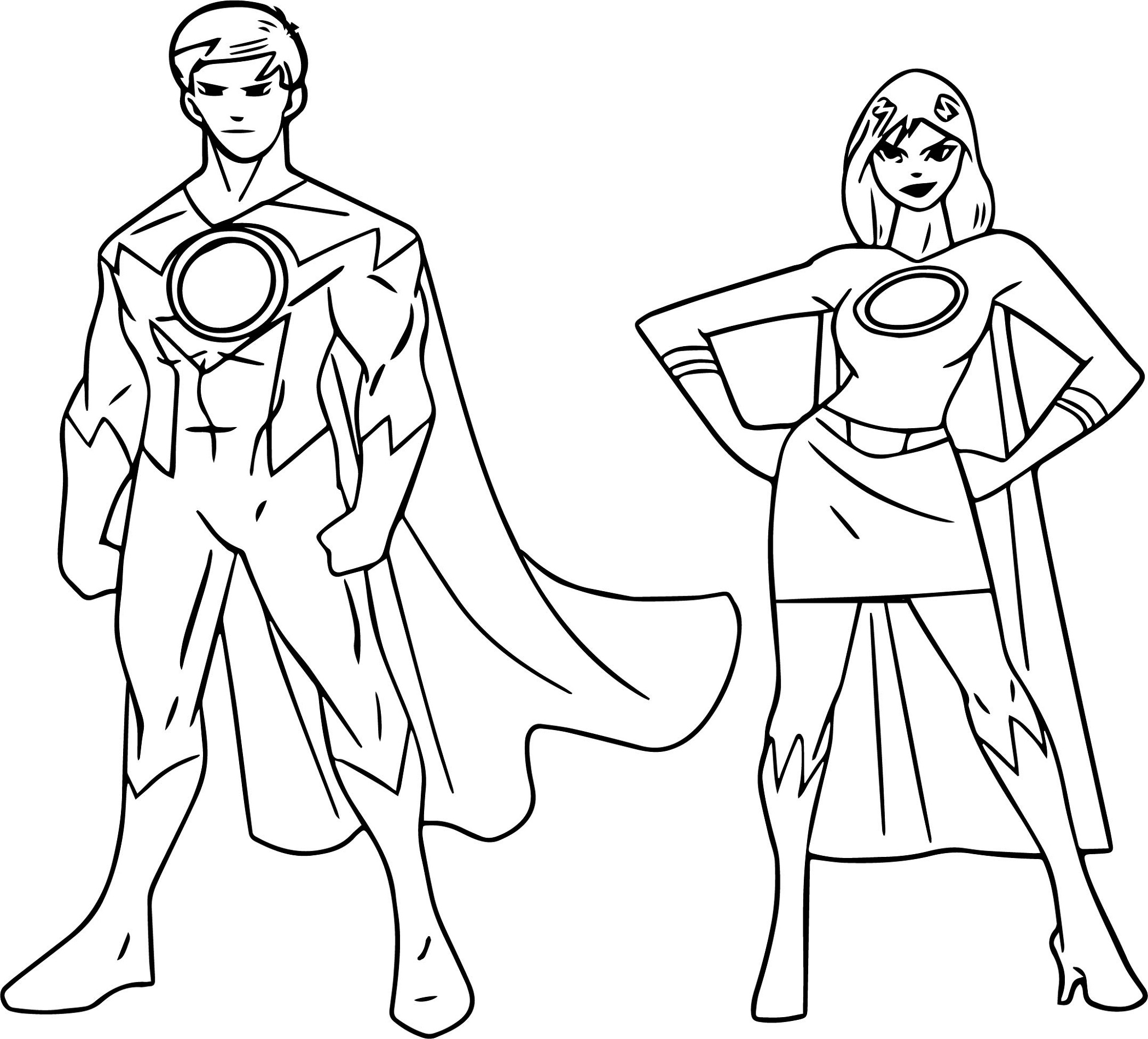 superhero coloring 5