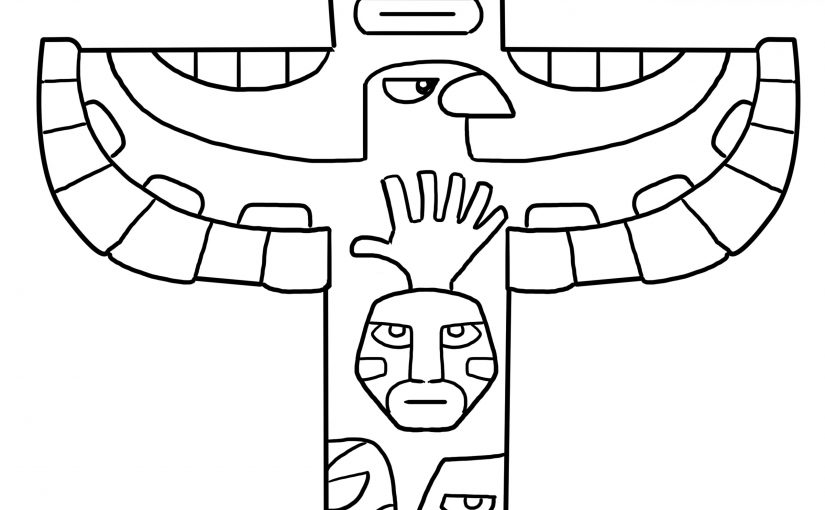 totem pole coloring pages 1