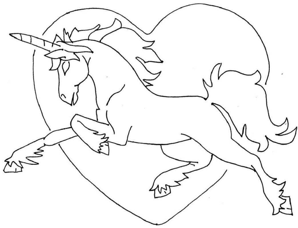 unicorn rainbow coloring pages 3