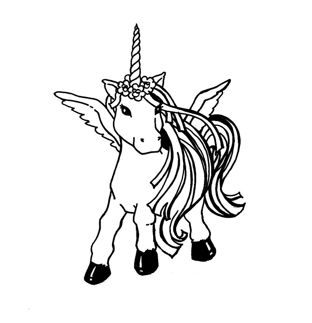 unicorn rainbow coloring pages 4