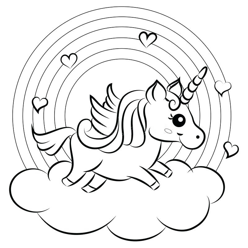 unicorn rainbow coloring pages 5