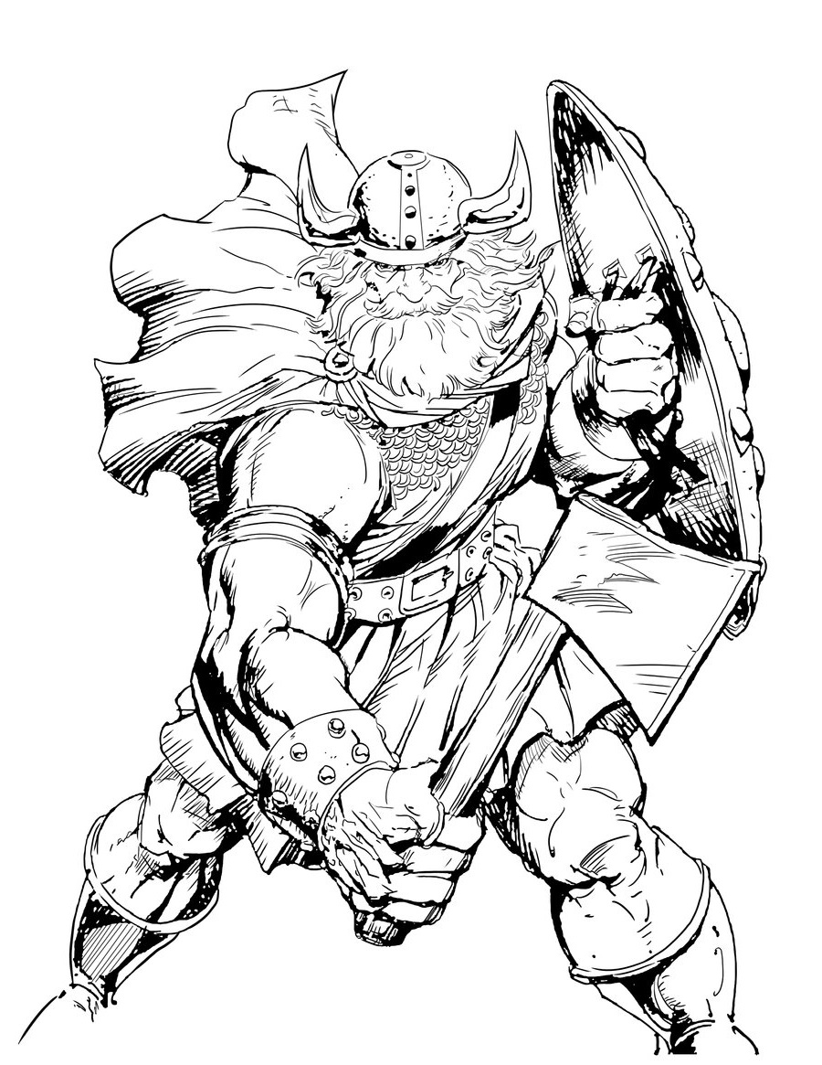 viking coloring pages 1