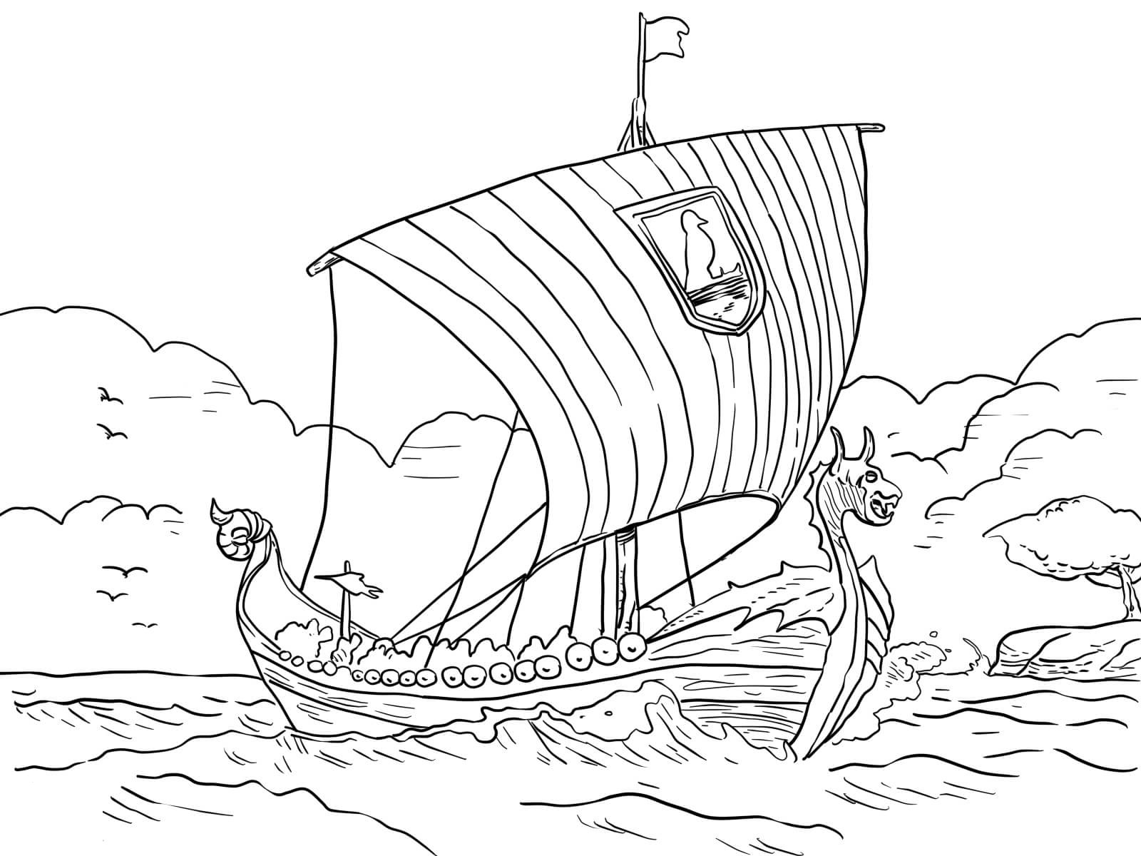 viking coloring pages 2