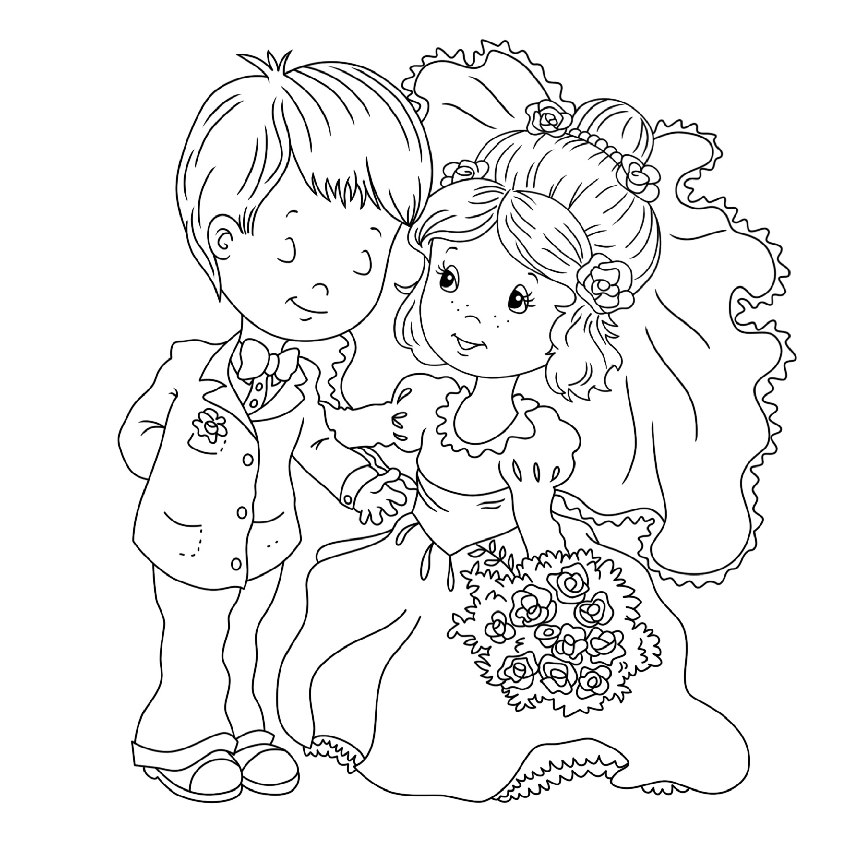 wedding coloring pages 3