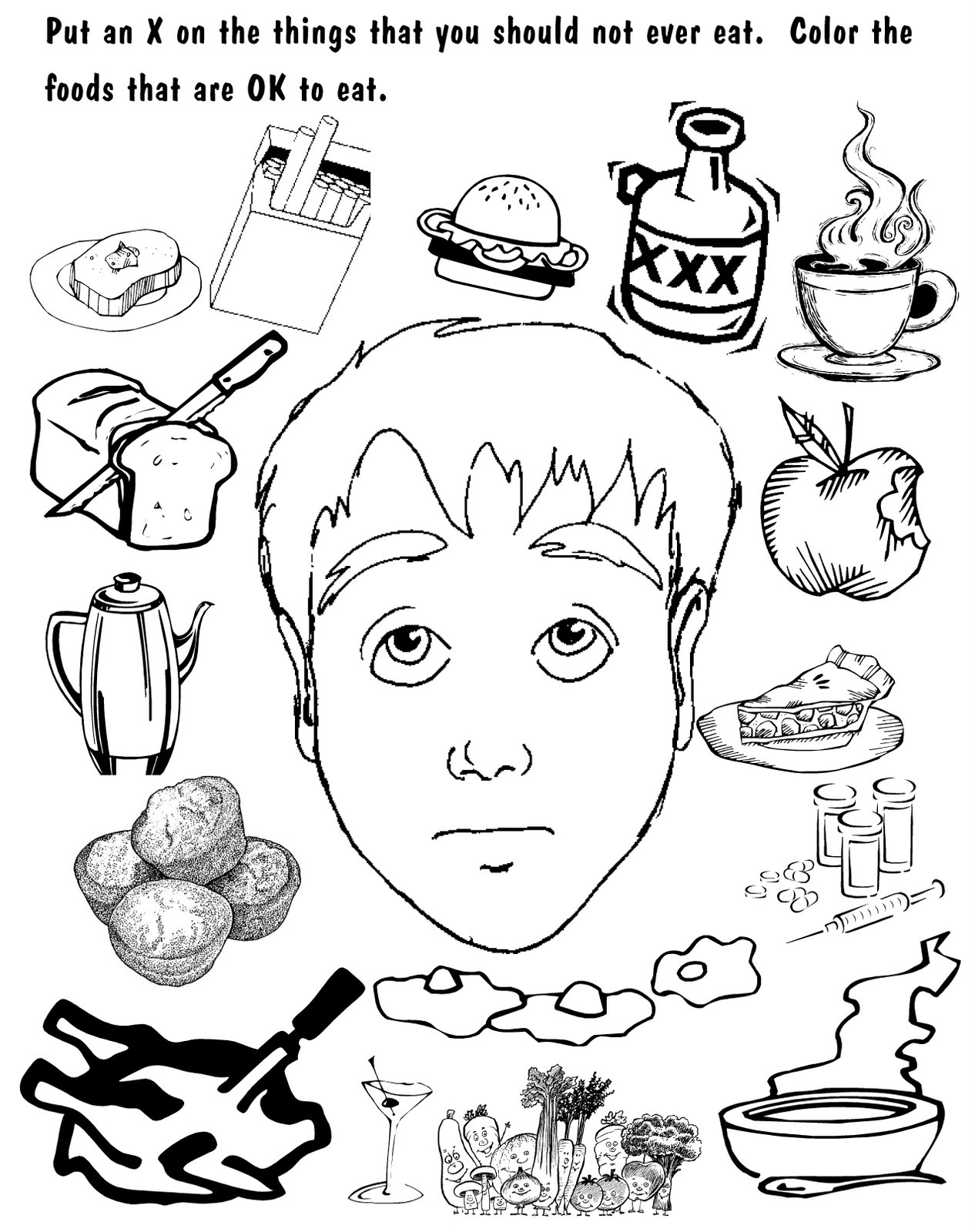 word of wisdom coloring page 2