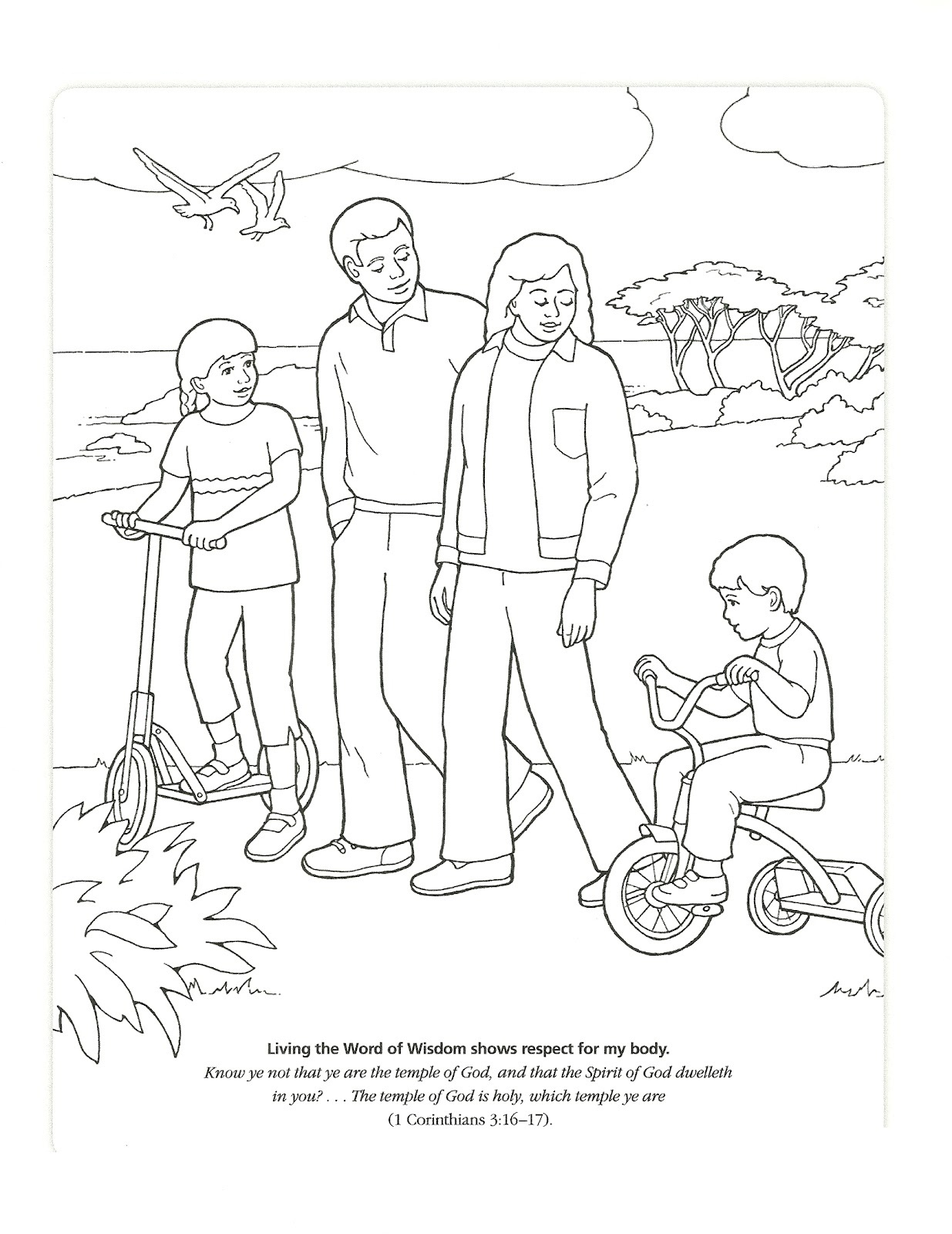 word of wisdom coloring page 4