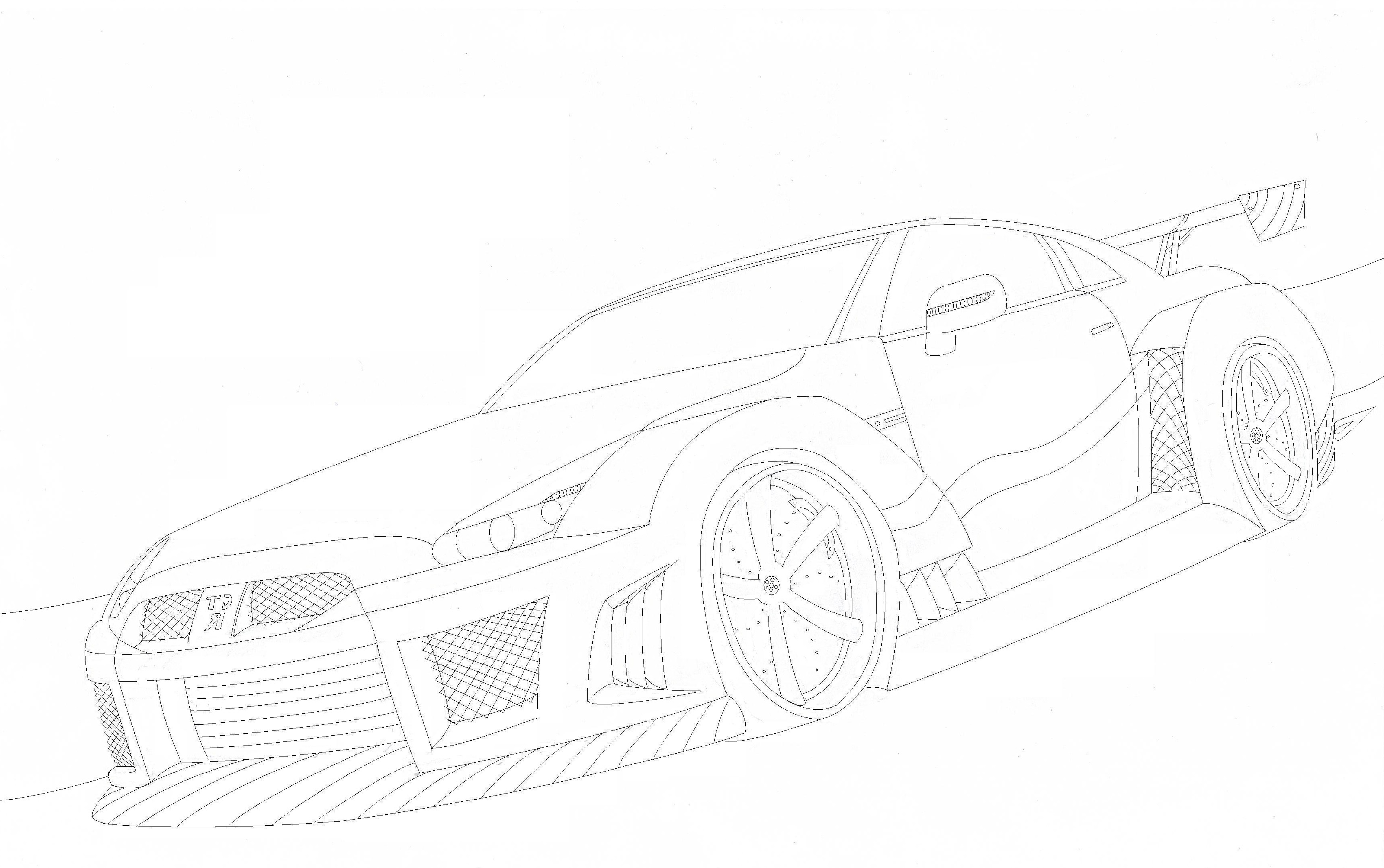 Gtr coloring pages 1